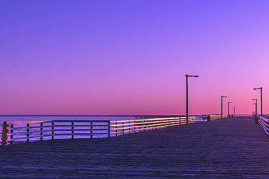 Pier At Dusk by Christopher Petro