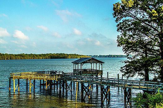 Pier at Moon Lake - Landscape by Barry Jones