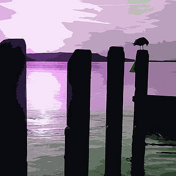 James Hill - Pier at Sunset