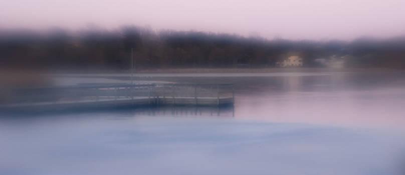 Pier at Sunset by Karen Hermann