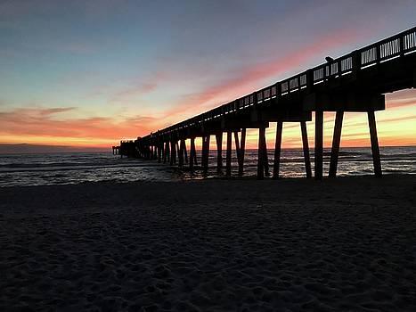 Pier at Sunset by Leslie Brashear