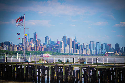 Pier at White Plains by Mary D'Urso