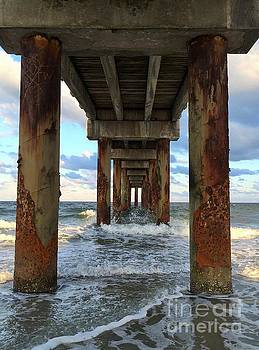 Pier in Strength and Peaceful Serenity by Cindy Croal