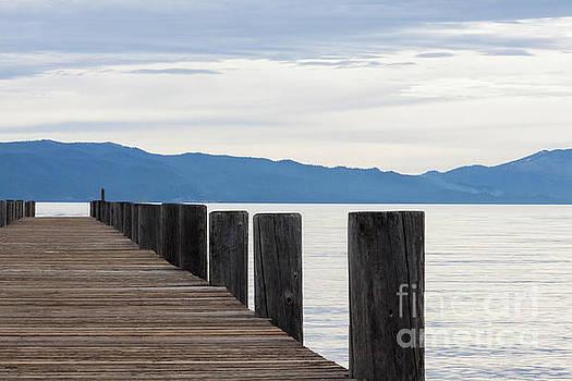 Pier on The Lake by Ana V Ramirez