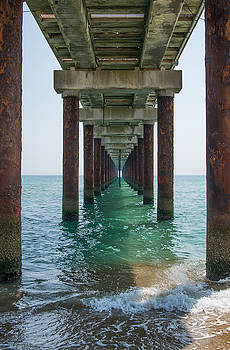 Pier on the Outer Banks by Kent Sorensen