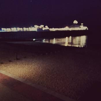 #pier #sea #beach #night #eastbourne by Natalie Anne
