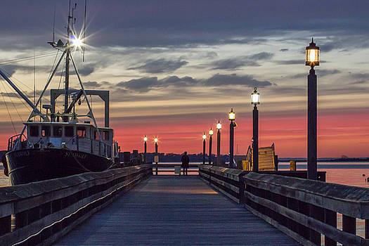 Pier Sunset by Roderick Breem