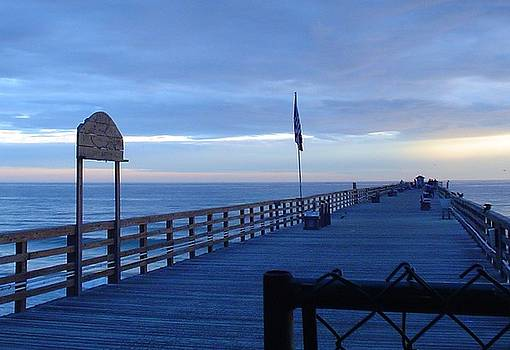 Pier view at sunrise by Cheryl Waugh Whitney