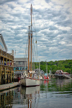 Pierside in Boothbay Harbor by Guy Whiteley