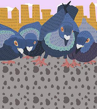 Pigeon Feast by Nicole Wilson
