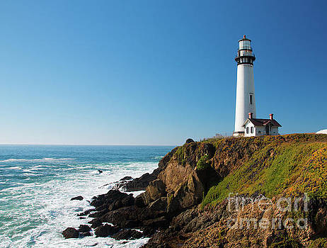 Pigeon Point Lighthouse on highway No. 1, California by Amanda Mohler