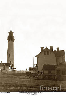 California Views Mr Pat Hathaway Archives - Pigeon Point Lighthstation was built in 1871  Circa 1890