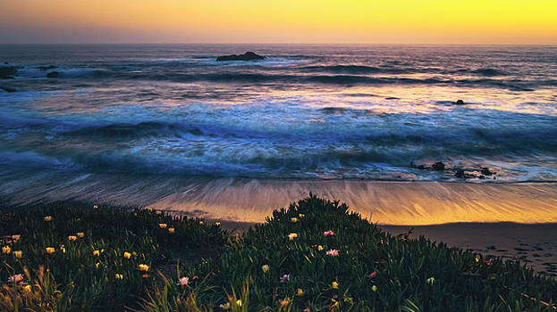 Pigeon Point State Beach Sunset by Kenny Green
