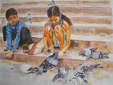 Pigeons at Masjid by Sreenivasa ram Makineedi