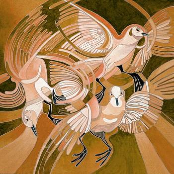 Tracey Harrington-Simpson - Pigeons in Sepia