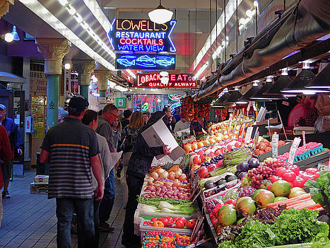 Pike Market Fruit Stand by Walter Fahmy