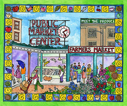 Pike Place Market by Pamela  Corwin