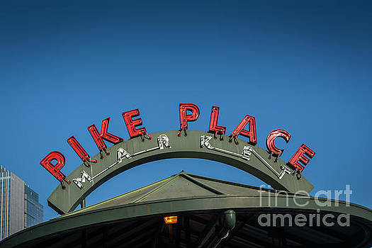 Pike Place Market sign by day by Anna Wisniewska