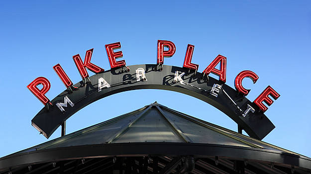 Pike Street Market Sign by Peter Simmons