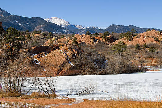 Steve Krull - Pikes Peak and Pond in Red Rock Canyon