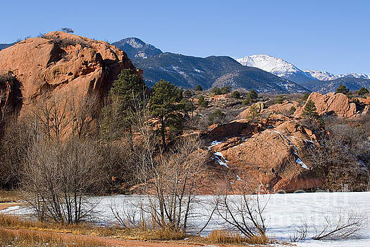 Steve Krull - Pikes Peak and Red Mountain from Red Rock Canyon