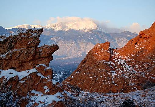 Pikes Peak from Garden of the Gods by Rhonda Van Pelt