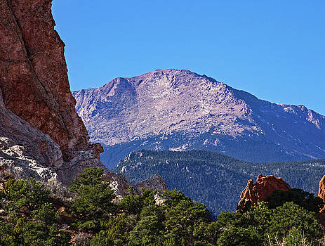 Pike's Peak in Morning by Richard Risely