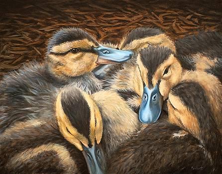 Pile O' Ducklings by Linda Merchant