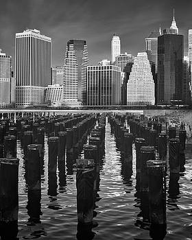 Pilings and the New York City Skyline by Jerry Fornarotto