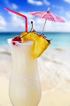 Elena Elisseeva - Pina colada cocktail on the beach