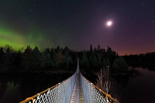 Pinawa Suspension Bridge by Nebojsa Novakovic