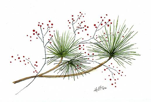 Pine and Berries by Denise   Hoff
