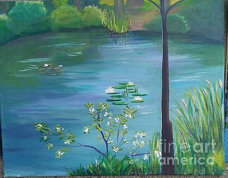 Pine Bank Pond on a Sunny Day by Romani Berlekov