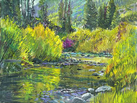 Pine Creek Plein-air by Steve Spencer