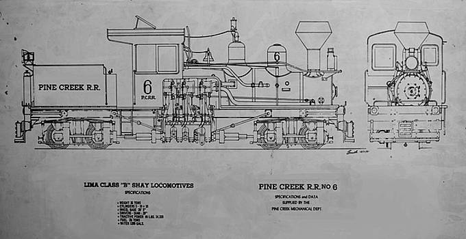 Pine Creek Shay No 6 by Pat Turner