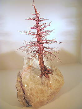 Pine Tree on Crystal by Judy Byington