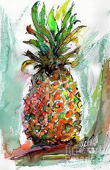 Ginette Callaway - Pineapple Ananas Watercolor