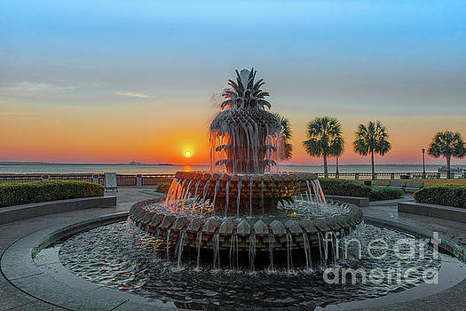 Dale Powell - Pineapple Sunrise over Charleston South Carolina