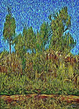 Pines At Dusk by Joel Bruce Wallach