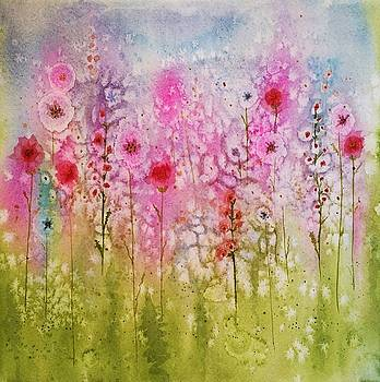 Pink Abstract by Brenda O'Quin