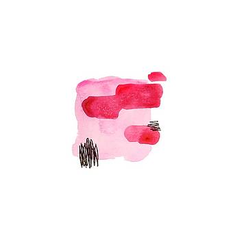 Pink And Black Abstract by Cortney Herron
