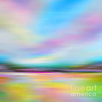 Pink and Blue Landscape by Tracy-Ann Marrison