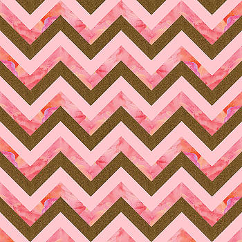 Pink and gold pattern by Vitor Costa