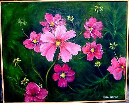 Pink And Green Lovely by Laura Rispoli
