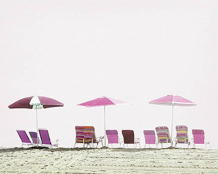 Pink and Plum Beach Chairs by Brooke T Ryan