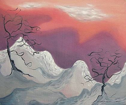 Suzanne  Marie Leclair - Pink and Purple Sky