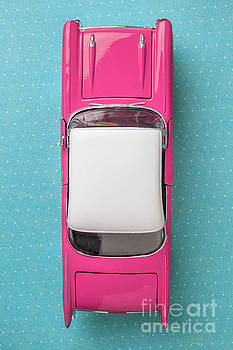 Edward Fielding - Pink and White Toy Car from above