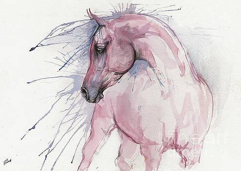 Pink arabian horse 2017 07 17 by Angel Tarantella