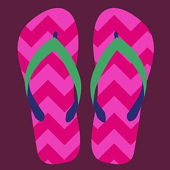 Pink Beach Sandals by Jennifer Hotai
