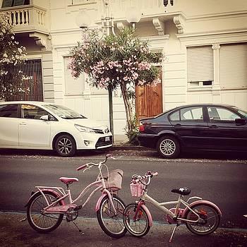 Pink Bikes On Parking  by Tamara Sushko
